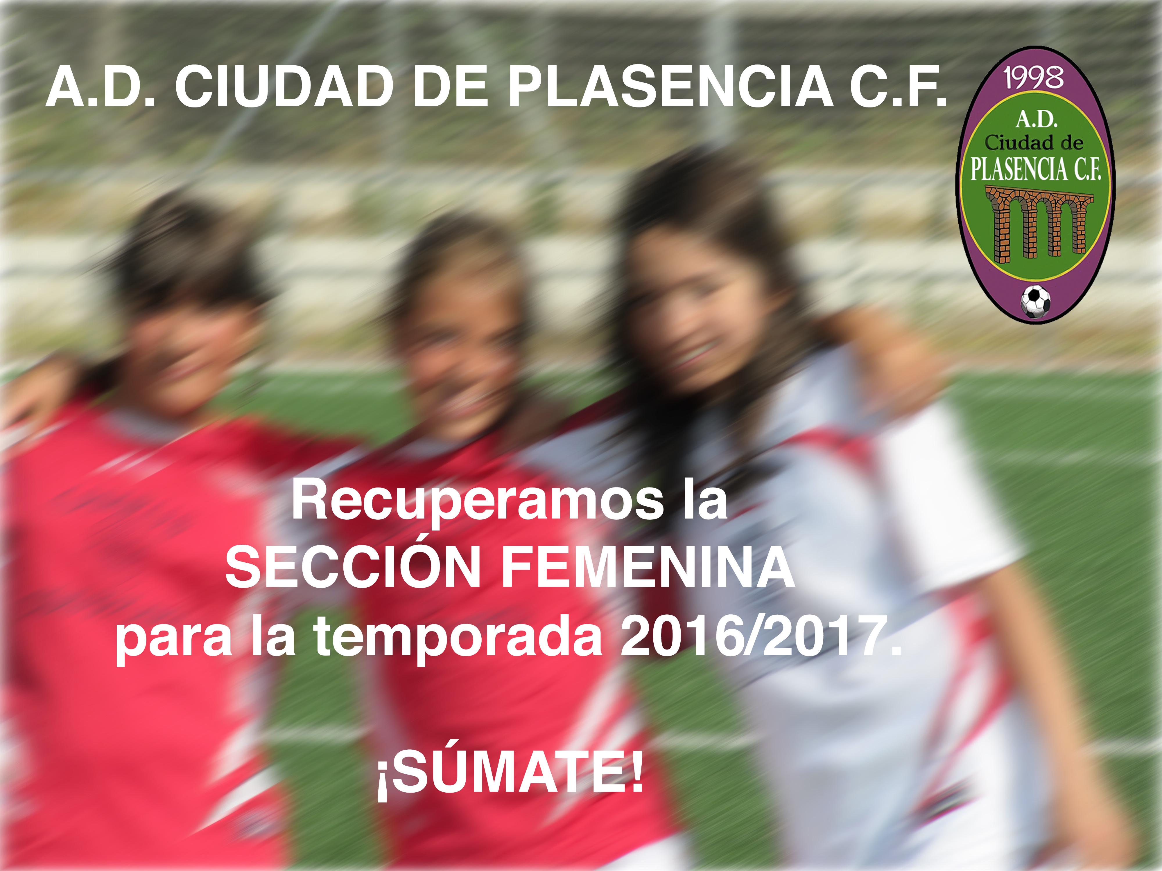 Recuperamos la sección femenina para la temporada 2016-2017